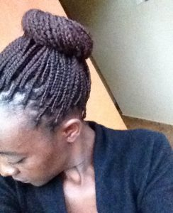 Protective styling with small braids