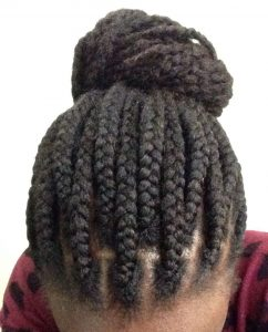 Protective styling with Box braids