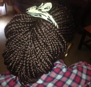 Long braids protective styling